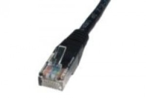Black 1m Cat5 Ethernet cable - Patch cable RJ45 UTP