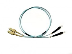 SC - ST Multimode fibre patch cable 50/125 OM3 Duplex 0.5m