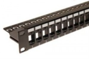 24 way keystone Patch Panel - Modular 1U Unloaded