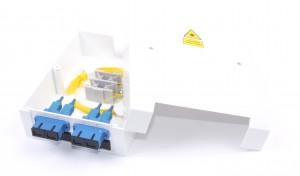 4 Way SC Singlemode Optic Fibre Termination Box - adaptors & pigtails