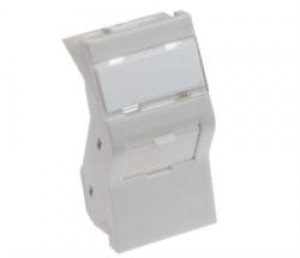 38 X 25mm 6C Shuttered Angled Keystone Module White