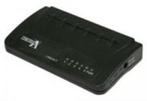 5 port 10/100  networking switch - black