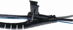Easi-Zip Black slit cable harness wrap,8mm - 25m Reel.