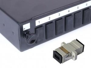 SC fibre patch panel Multimode Simplex unloaded/loaded