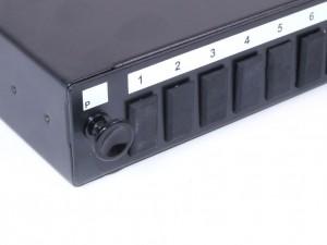 SC fibre patch panel 24 Port simplex unloaded