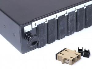 SC fibre patch panel Multimode Duplex unloaded/loaded