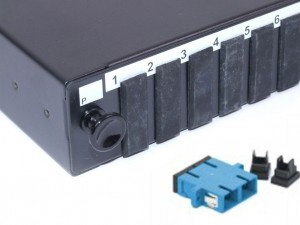 SC fibre patch panel Singlemode duplex unloaded/loaded