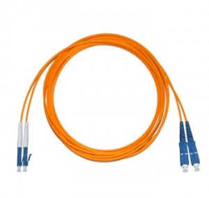 LC - SC Multimode fibre patch lead 62.5/125 OM1 Duplex 0.5m