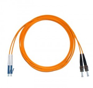 LC - ST Multimode fibre patch lead 50/125 OM2 Duplex 0.5m
