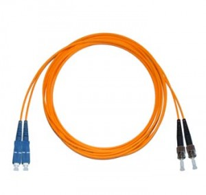 SC - ST Multimode fibre patch cable 62.5/125 OM1 Duplex 0.5m