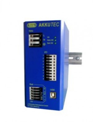 AKKUTEC 2405 USB 24V DC 5A Battery buffered power supply