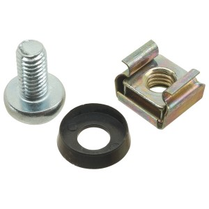 Cage Nuts, Screws & Washers (4 pieces of each)