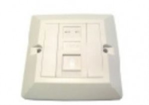 Cat5e single gang outlet RJ45 UTP module and faceplate