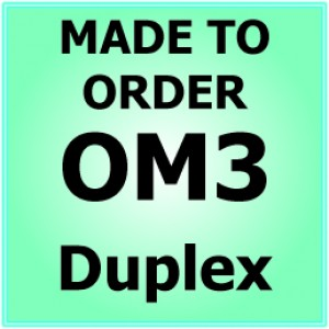 Multimode OM3 Armoured Fibre Patch Lead - Duplex
