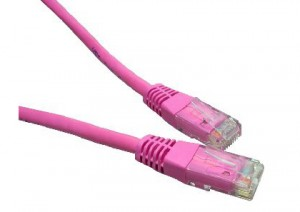 Pink 5m Cat6 Ethernet cable - Patch cable RJ45 UTP