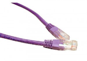 Violet 1m Cat6 Ethernet cable - Patch cable RJ45 UTP