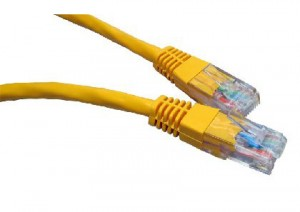 Yellow 2m Cat6 Ethernet cable - Patch cable RJ45 UTP