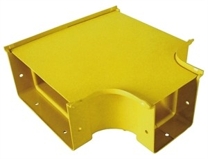 Horizontal Tee Reducer 200 to 100mm Yellow