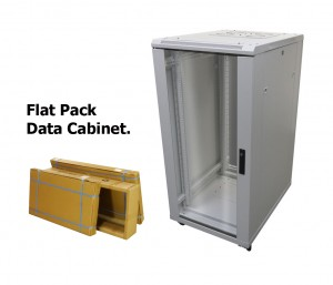 27U Data Cabinet 800 x 800 Flat Pack