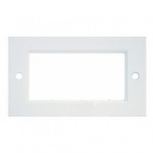 Double Gang 86 x 146 mm White Flat Frame Faceplate
