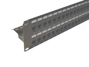 48 Port 2U CAT5e Keystone Modular Panel Unloaded
