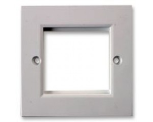 Single Gang 86 x 86mm White Flat Frame Faceplate