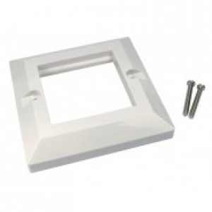 Single Gang 86 x 86mm White Bevelled Frame Faceplate