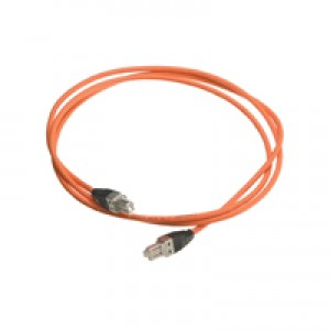 1m Cat7 Patch Lead Nexans LANmark7 LSOH Orange GG45