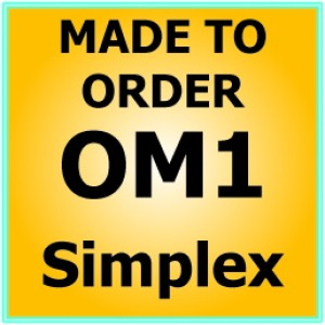 Multimode OM1 Armoured Fibre Patch Lead - Simplex