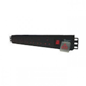 6 way 1U horizontal UK (13A) PDU