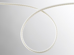 Indoor slit optical fibre protection tubing – 5mm White