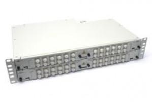 Fibre splice Patch Panel 2U 48 Way FC Singlemode - adaptors & pigtails