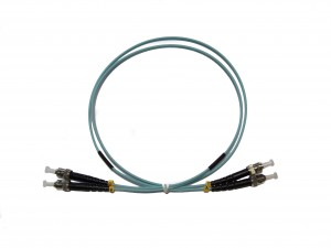ST - ST Multimode fibre patch cord 50/125 OM3 Duplex 0.5m