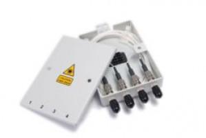 4 Way ST Multimode Optical Fibre Termination Box - Metal