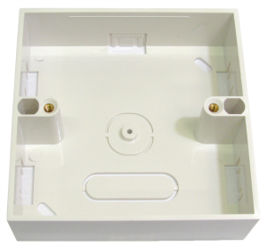 Single back box for 86mm faceplates