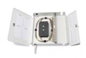 Fibre Optic Wall Splice Patch Box 48 Way ST unloaded
