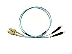 SC - ST Multimode fibre patch cable 50/125 OM3 Duplex 1m