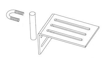 Under Floor Mounting Kit Large with 50mm U Bolt