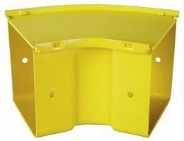 45 Degree Horizontal Bend 300mm Yellow