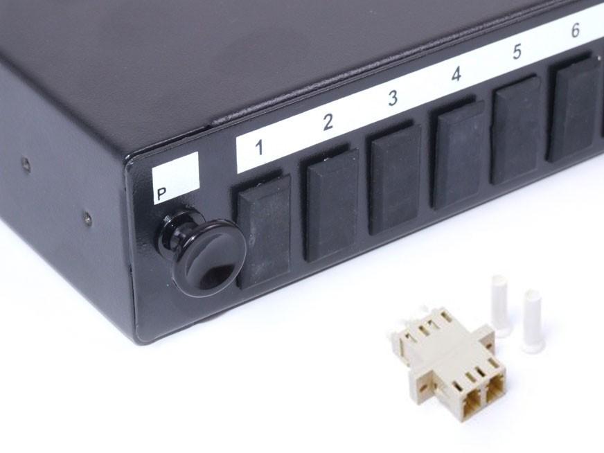 LC fibre patch panel Multimode Duplex unloaded/loaded
