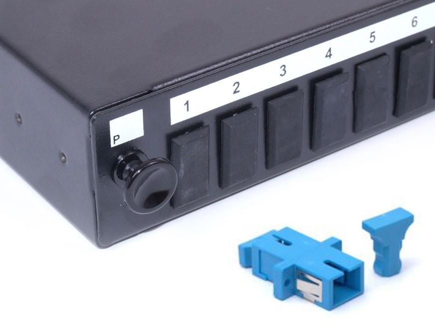 SC fibre patch panel Singlemode simplex unloaded/loaded