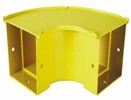 90 Degree Horizontal Bend 300mm Yellow