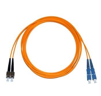FC - SC Multimode fibre patch lead 62.5/125 OM1 Duplex 2m