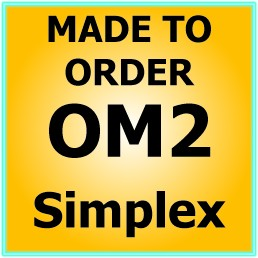 Made to order OM2 50/125 Multimode Simplex Fibre Patch Cable