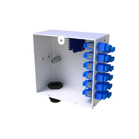 Din rail fibre termination box