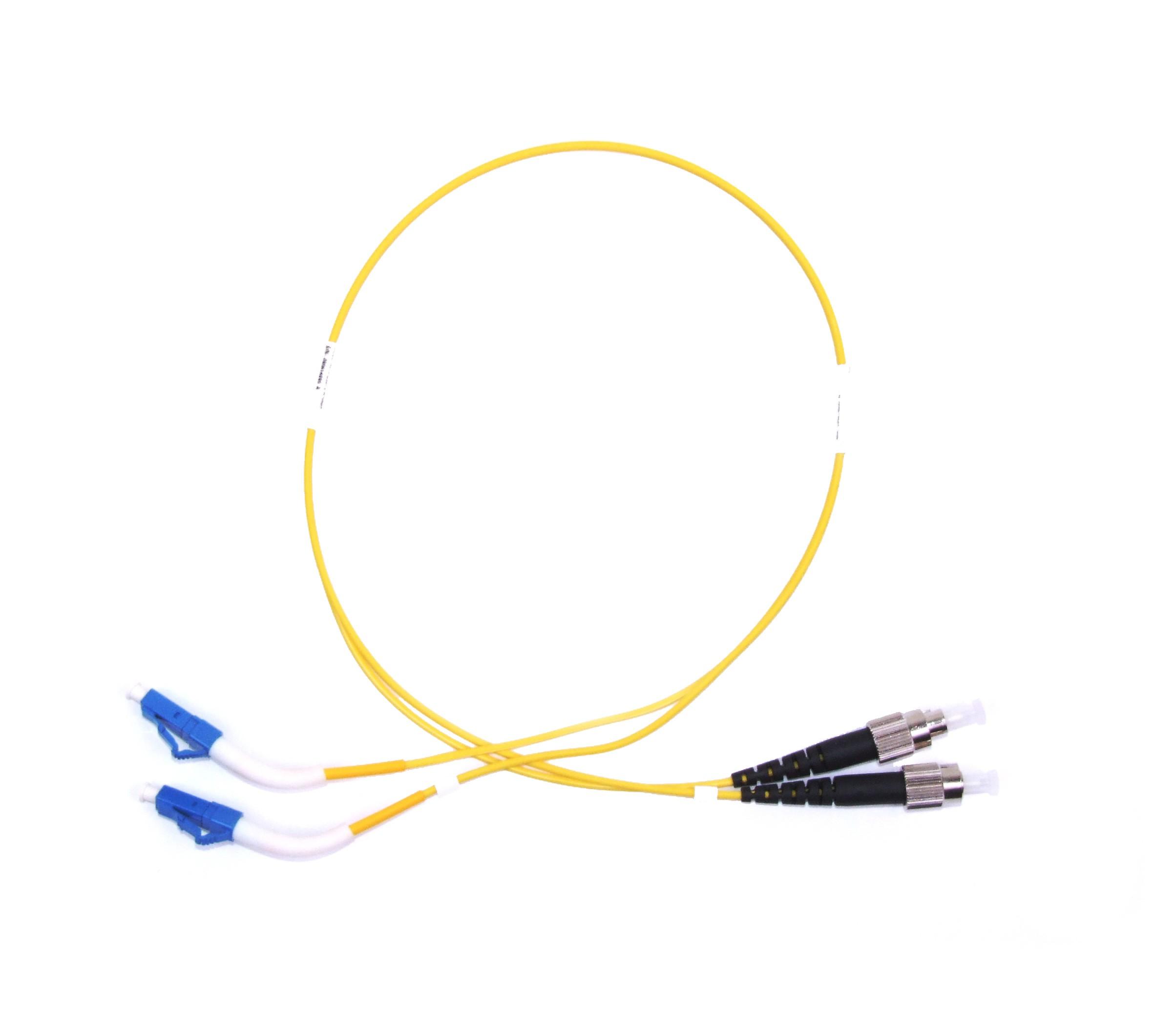 FC - LC 45° boot Singlemode fibre patch cable Duplex 22m