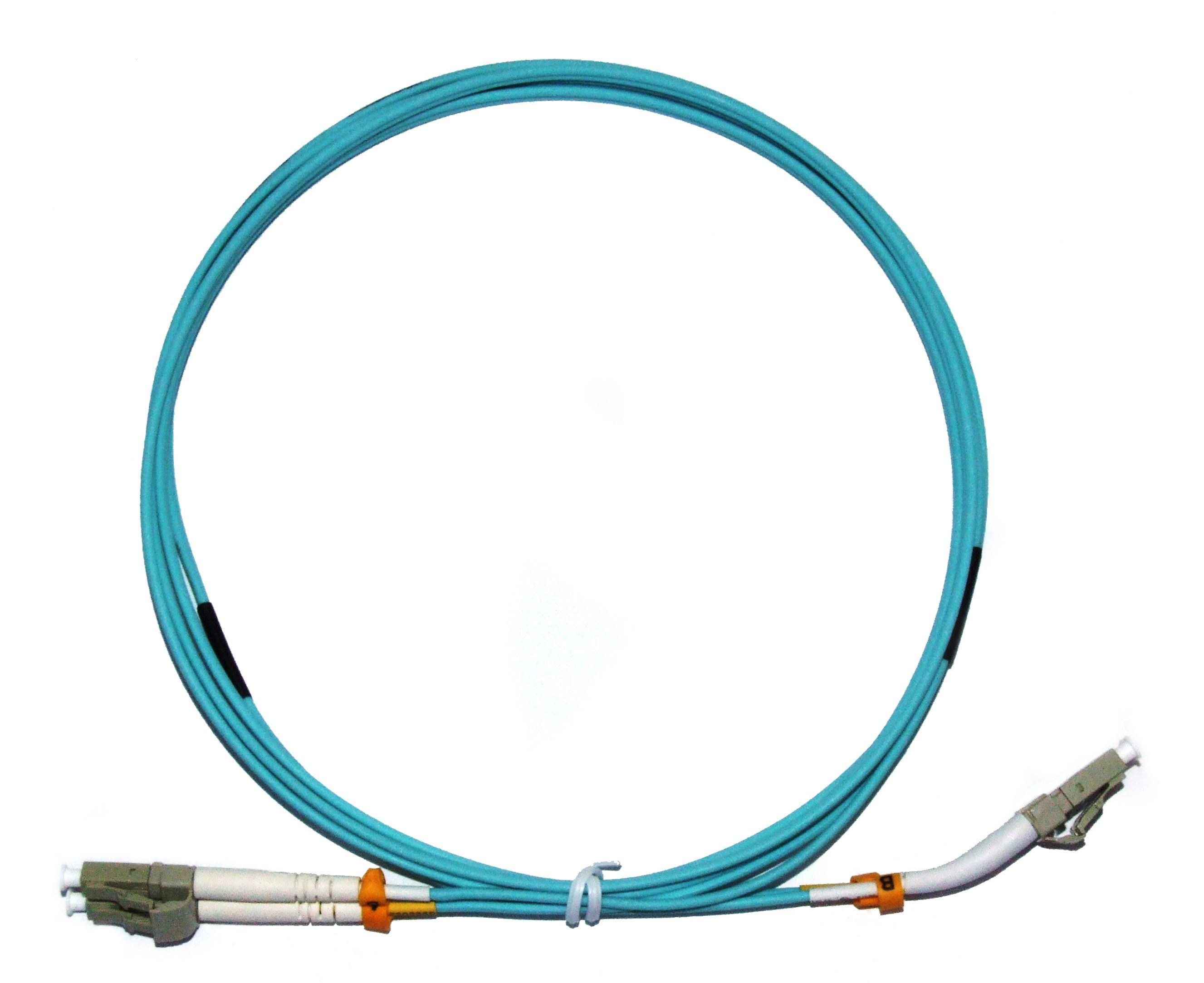 LC 45° boot - LC Multimode fibre patch cord 50/125 OM3 Duplex 3m