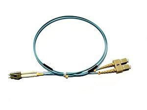 LC - SC Multimode fibre patch lead 50/125 OM3 Duplex 15m