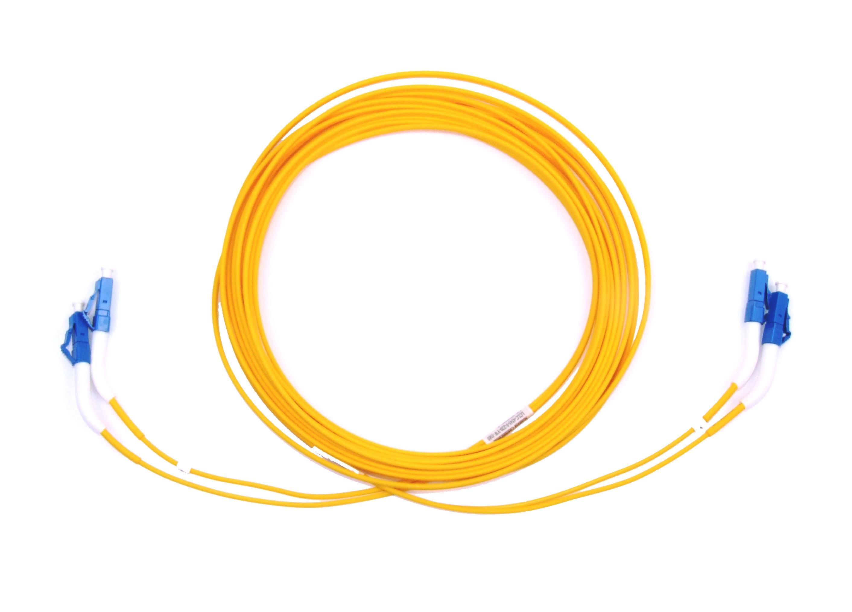 LC 45 deg boot Singlemode fibre patch lead Duplex 5m