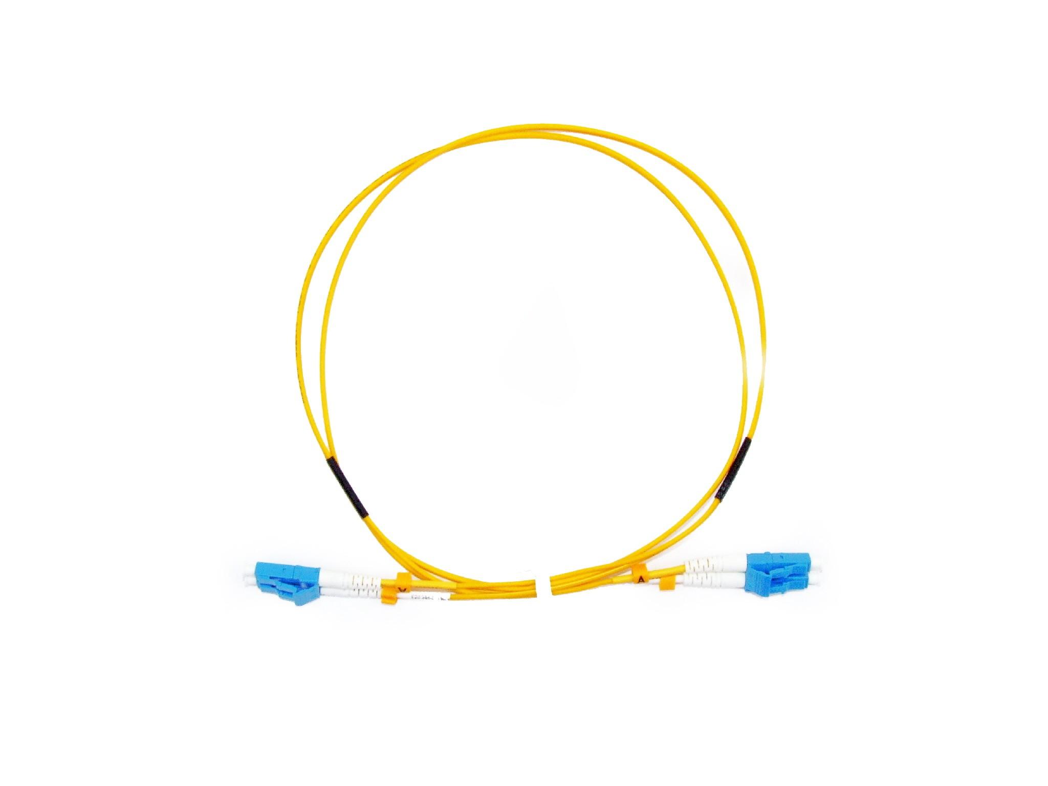 LC Short Boot  Singlemode fibre patch lead 1.6mm Duplex 0.5m